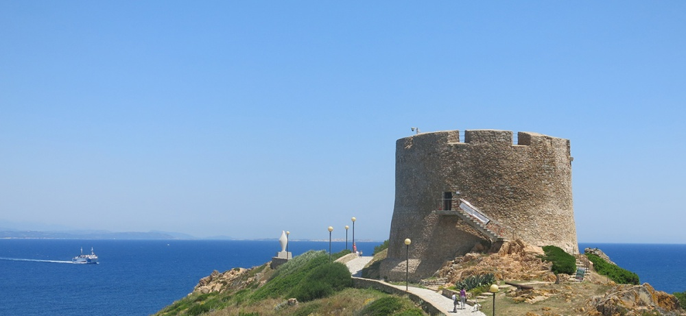 An Aragoniste Tower for defence against the Moors provide picturesque views against the blue sea